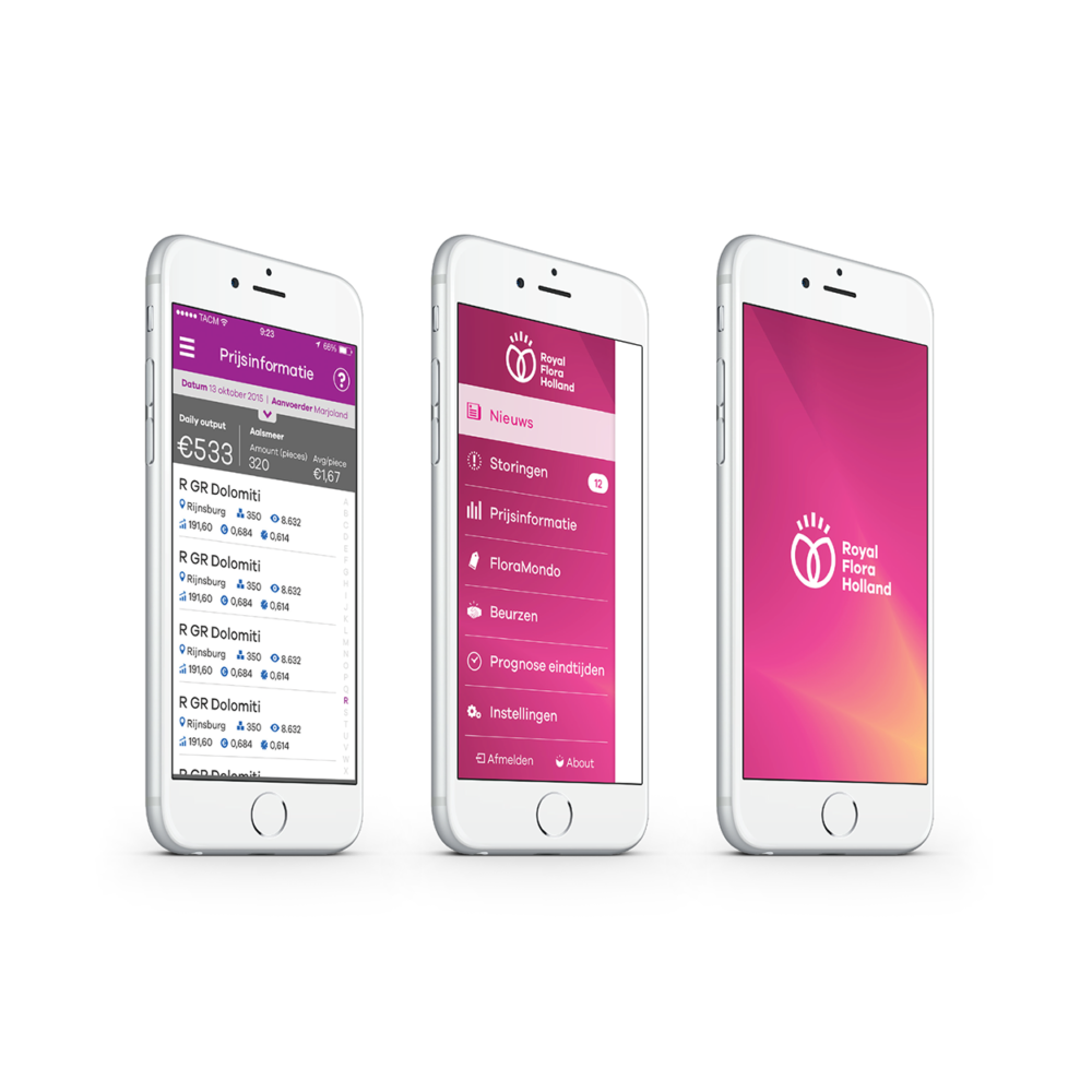 Royal FloraHolland app design
