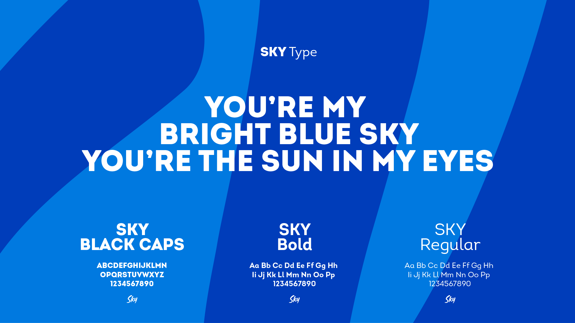 Sky Radio typografie
