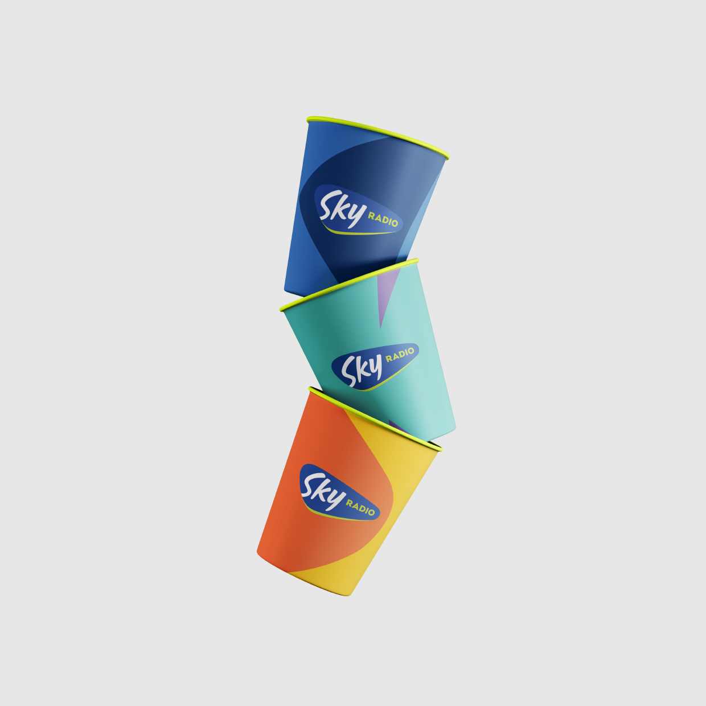 Skyradio beketrtjes met logo